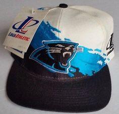 Carolina Panthers Vintage Snapback Logo Athletic Splash Hat NFL Pro Line Cap NWT