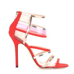 mytheresa.com - Maitai leather and suede sandals - high heel - sandals - shoes - Luxury Fashion for Women / Designer clothing, shoes, bags