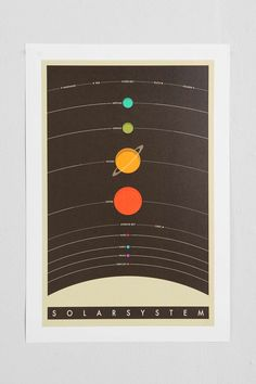 Jazzberry Blue Solar System Art Print - Urban Outfitters   *** Fantastic colors, this could be great for living room