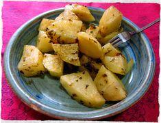 Patatas al vapor a las finas hierbas