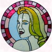 Grace Kelly faux stained glass