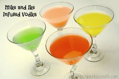 Mike and Ike Watermelon, Lemon, Bubble Gum, and Cherry flavored vodka tutorial {Horrible Housewife}