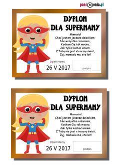 dyplomik dzień mamy Diy And Crafts, Paper Crafts, Kombucha, Kids And Parenting, Diy For Kids, Fall Decor, Art Projects, Kindergarten, Techno