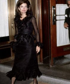 Jackie O in a lbd at the fashionable La Côte Basque. Mrs. Onassis would be seen in the dress on a number of occasions; she didn't believe in retiring an outfit after being photographed in it once.