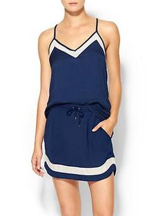 """Townsen Yachy Cami & Skirt  When we go out on the boat together, this is my skipper outfit. High ponytail & white, chunky/platform 90's/""""Clueless"""" sneakers or flip-flops."""