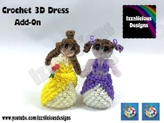 Rainbow Loom Loomigurumi Dress for Princess & Fairies - Stand your dolls up! - YouTube