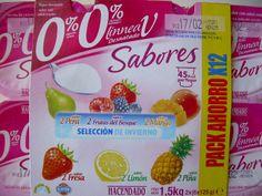 Yogur Sabores 0% 0% Linnea V Desnatado Hacendado - 1 unidad 1 punto.