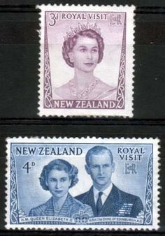 New Zealand 1953 Royal Visit Set Fine Mint SG 721 2 Scott 286 7 Other British Commonwealth Empire and Colonial stamps Here