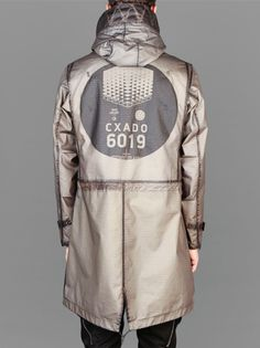 cruisingwithgunhead:  mynicker:  Stone Island Shadow Project 2014 S/S  Grid R Reverse Overdyed Parka  Dreamt I was on an aircraft carrier, and found a small manual which contained pictures of the non-existent Navy uniform coat that inspired this. What happens when you read Zero History before bed.
