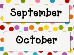 This calendar set is a great addition to anyone's Polka Dot Themed classroom! :)  You will receive a set of Monthly headers along with all of the c...