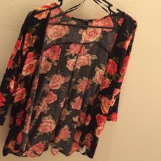 Spotted while shopping on Poshmark: Forever 21 floral cover up! #poshmark #fashion #shopping #style #Forever 21 #Sweaters