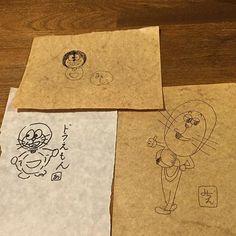 昨日行きつけの居酒屋へ行き常連さんたちで誰がドラえもんを1番上手に描けるか比べをしました(o) 右のが私のです笑  #ドラえもん #落書き