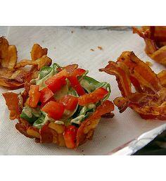 Muffin Tin recipes! Bacon salad