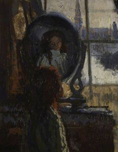 Girl at a Looking Glass, Little Rachel, 1907 - Walter Richard Sickert Camden Town Group Painter Walter Sickert, Glasgow Museum, Local Art Galleries, Impressionist Artists, Portraits, Oil Painting Reproductions, Art Uk, Online Art, Canvas Art Prints