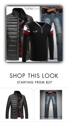 """""""Fashion"""" by fatimka-becirovic ❤ liked on Polyvore featuring men's fashion, menswear, Winter, black and twinkledeals"""
