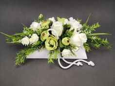 Grave Decorations, Funeral Flowers, White Flowers, Floral Wreath, Wreaths, Apollo, Home Decor, All Saints Day, Homemade Home Decor
