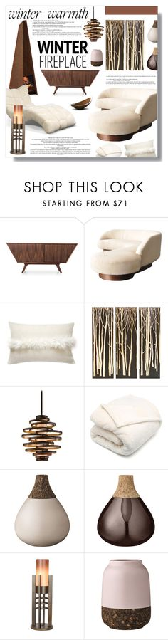 """Untitled #757"" by valentina1 ❤ liked on Polyvore featuring interior, interiors, interior design, home, home decor, interior decorating, Joybird Furniture, Pure Lana, Palecek and Corbett Lighting"