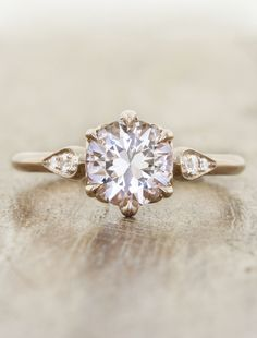 Unique pink stone engagement rings by Ken & Dana Design in NYC