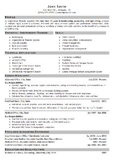Bookkeeping Resume Example