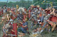 Romans battle against Dacians, by Angel Garcia Pinto.