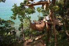 Soneva Kiri's New Treetop Restaurant By Six Senses Hotel on Koh Kood island , Thailand