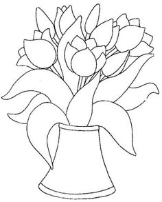 Tulips Coloring Page 27 Is A From FlowersLet Your Children Express Their Imagination When They Color The Will