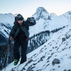 Adam's first day out in the backcountry this year! Deep powder wind crusts and a winds pure boot pack made for a day of all angles! #skiing #humanpoweredadventures #mountainlife #explorealberta by phil_b_lester_photography