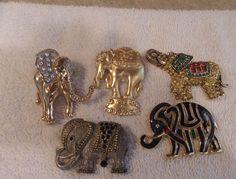 Vintage jewelry ...circus elephant brooches, stones, enamel Greek Paraphernalia, Elephant Jewelry, Vintage Elephant, African Culture, African Elephant, Theta, Coat Of Arms, Lapel Pins, Brooches