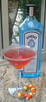 Candy Corn Cocktail - Bombay Sapphire Gin Halloween Cocktail