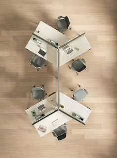 Answer Beam is a desk system designed to support both individuals and groups, in resident and nomadic settings, with the flexibility to adapt and evolve as the needs of your organization, your people and your culture shift. Office Furniture Design, Workspace Design, Office Workspace, Office Interior Design, Office Interiors, Corporate Office Design, Open Office Design, Open Space Office, Office Plan