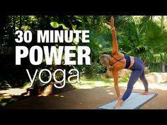 30 Minute Power Yoga Class - Five Parks Yoga Sup Yoga, Bikram Yoga, Vinyasa Yoga, Yoga Pilates, Pilates Reformer, Learn Yoga, How To Do Yoga, Yoga Sequences, Exercise Workouts