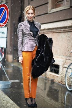 Diana, Milan Fashion Week Fall 2013 | Elle.com Street Style