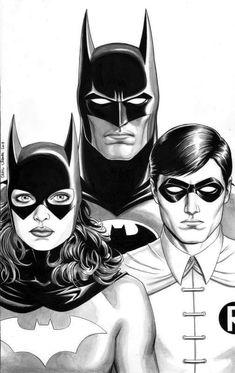 Batman, Batgirl & Robin by Craig Cermak Batman Robin, Batgirl And Robin, Batman And Batgirl, Im Batman, Lego Batman, Dc Universe, Batman Universe, Dc Comics Art, Marvel Dc Comics