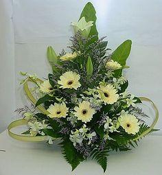 GERBER Altar Flowers, Church Flowers, Funeral Flowers, Unique Flowers, Fresh Flowers, Colorful Flowers, Beautiful Flowers, Wedding Flowers, Funeral Flower Arrangements