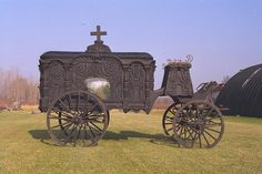 carved carriage hearse... beautiful!