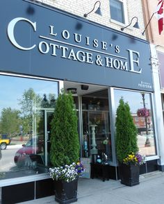 Louise's Cottage & Home in downtown Goderich, Ontario.