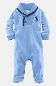 Ralph Lauren Velour Footie (Infant) available at #Nordstrom #XmasWishList