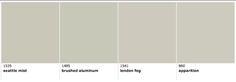 Benjamin Moore Colors similar to Revere Pewter:  Seattle Mist, Brushed Aluminum, London Fog, Apparition