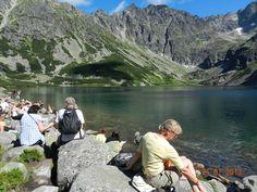 Czarny staw Gasienicowy tatra mountain hiking