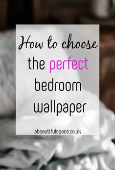 How to choose the perfect Bedroom Wallpaper, picking the right bedroom wallpaper can be tricky so here are some top tips including how to hang it! Beautiful Space, Beautiful Homes, Bedroom Wallpaper, Stylish Bedroom, Beautiful Bedrooms, Easy Projects, Getting Things Done, Decoration, Bedroom Decor