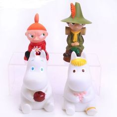 MOOMIN-Pack-4-figuras-15cm-Snufkin-tree-Piggy-Bank-set-figure-Mooninvalley