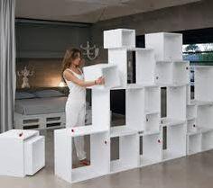 Image result for room divider shelving units