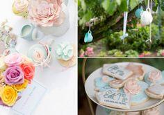 Vintage Alice In Wonderland Tea Party with TONS of ideas! Via Karas Party Ideas KarasPartyIdeas.com #alice #wonderland #tea #party #idea #decorations