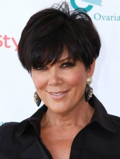 Kris Jenner and Her Short Layered Haircut