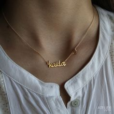 Custom Name Necklace by ATELIER Gaby Marcos