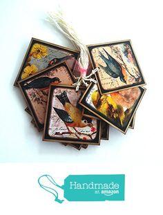 Vintage Inspired Bird Gift Tags - Set of 12 from Adore By Nat https://www.amazon.com/dp/B06XW3DVK7/ref=hnd_sw_r_pi_dp_9cn6ybMW8PA6Y #handmadeatamazon