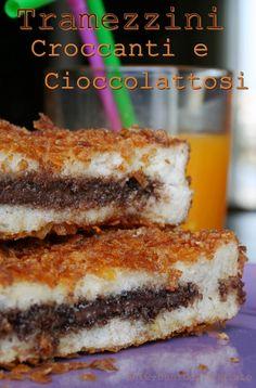 Crispy nutella sandwiches // Tramezzini Croccanti e Cioccolattosi
