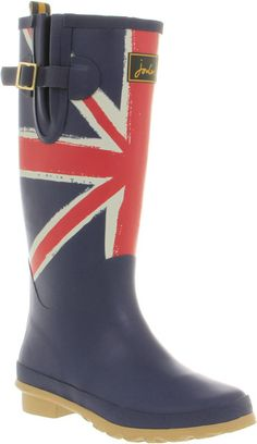 Union Jack Welly Union Jack - Lyst  I could totally do this to my boots!!!