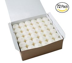 Votive Candle for Wedding Birthday Holiday  Home Decoration by Royal Imports White Wax Box of 72 ** Want additional info? Click on the image.