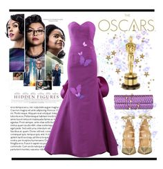 """""""The Oscars"""" by conch-lady ❤ liked on Polyvore featuring Oscar de la Renta, Dsquared2, redcarpetlook, theoscars, oscarnight and hiddenfigures"""